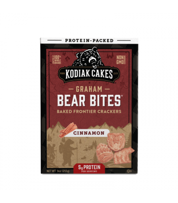 Kodiak Cakes Graham Bear Bites Cinnamon Baked Crackers - 9oz (255g) Snacks and Chips Kodiak Cakes