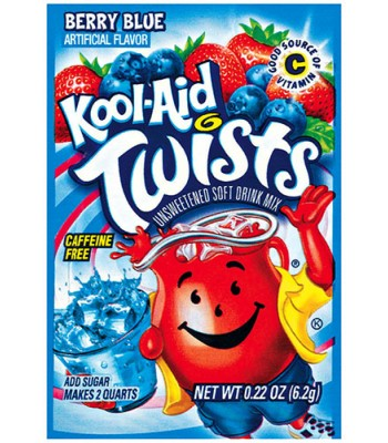 Kool Aid Mixed Berry Blue Twist 6.2g  Drink Mixes Kool Aid