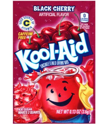 Kool Aid Black Cherry 3.6g  Drink Mixes Kool Aid