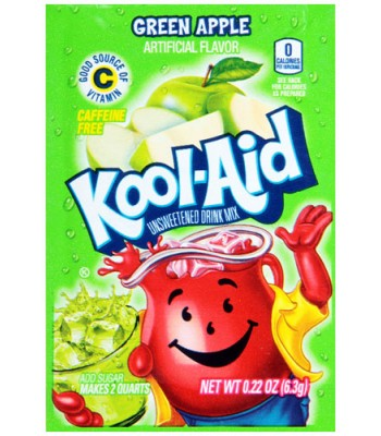 Kool Aid Green Apple 6.3g Drink Mixes Kool Aid