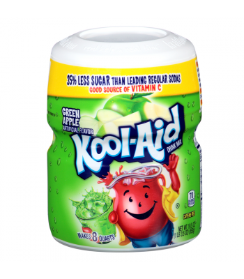 Kool Aid Green Apple Tub - 19.5oz (553g) Soda and Drinks Kool Aid