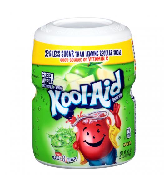 Kool Aid Green Apple Tub - 19.5oz (553g) Soda and Drinks Kool Aid