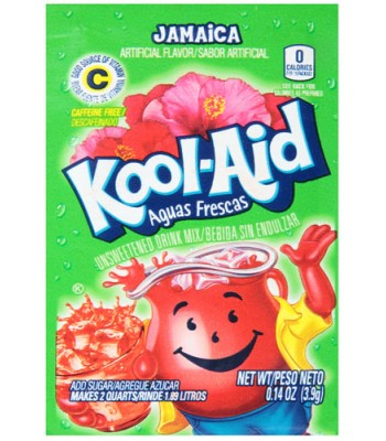 Kool Aid Jamaica Drink Mix Sachet - 0.14oz (3.9g) Soda and Drinks Kool Aid
