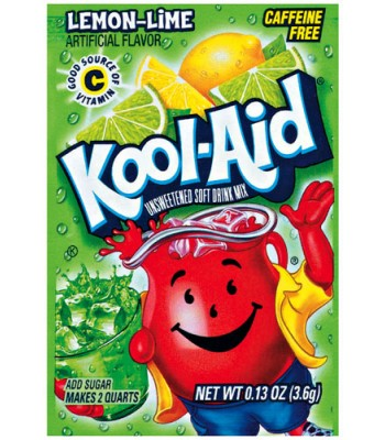 Kool Aid Lemon Lime - 0.13oz (3.6g) Soda and Drinks Kool Aid