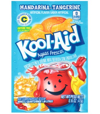 Kool Aid Mandarina-Tangerine Sachet - 0.16oz (4.5g) Soda and Drinks Kool Aid