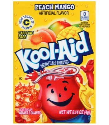Kool Aid Peach And Mango 4g Drink Mixes Kool Aid