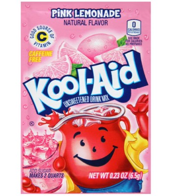 Kool Aid Pink Lemonade 6.5g  Drink Mixes Kool Aid