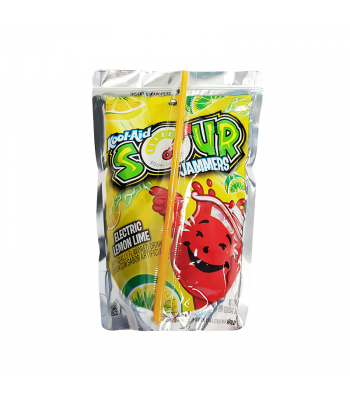 Kool Aid Jammers Sour Lemon Lime - 6oz (177ml) Soda and Drinks Kool Aid