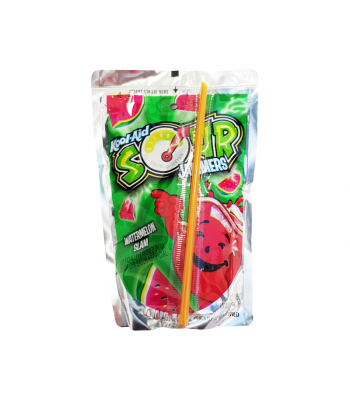 Kool Aid Jammers Sour Watermelon - 6oz (177ml) Soda and Drinks Kool Aid