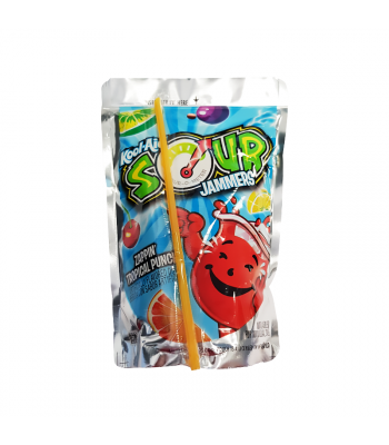 Kool Aid Jammers Sour Tropical Punch - 6oz (177ml) Soda and Drinks Kool Aid