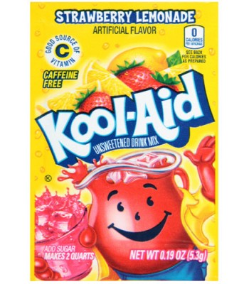Kool Aid Strawberry Lemonade - 0.19oz (5.3g) Soda and Drinks Kool Aid