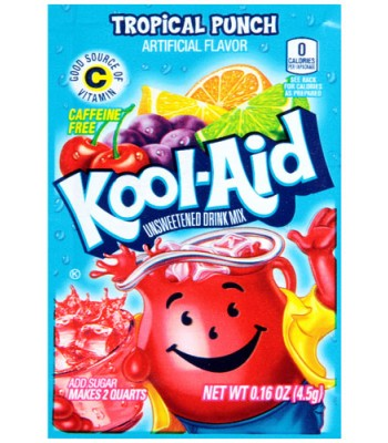 Kool Aid Tropical Punch 4.5g Drink Mixes Kool Aid
