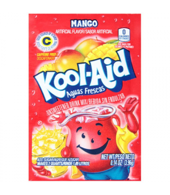 Kool Aid Mango Unsweetened Drink Mix Sachet 0.14oz (3.96g) Drink Mixes Kool Aid
