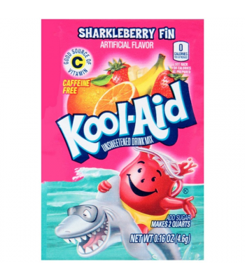 Kool Aid Sharkleberry Fin Unsweetened Drink Mix Sachet 0.16oz (4.6g) Drink Mixes