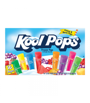 Kool Pops Assorted Freezer Bars 1oz (28.3g) 20-Pack Food and Groceries