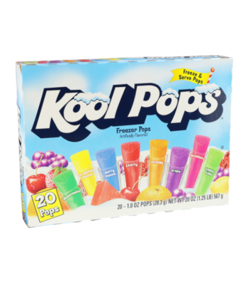 Kool Pops Assorted Freezer Bars 1oz (28g) 20-Pack Food and Groceries