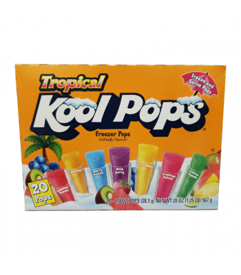 Kool Pops Tropical Freezer Bars 1oz (28.3g) 20-Pack Food and Groceries
