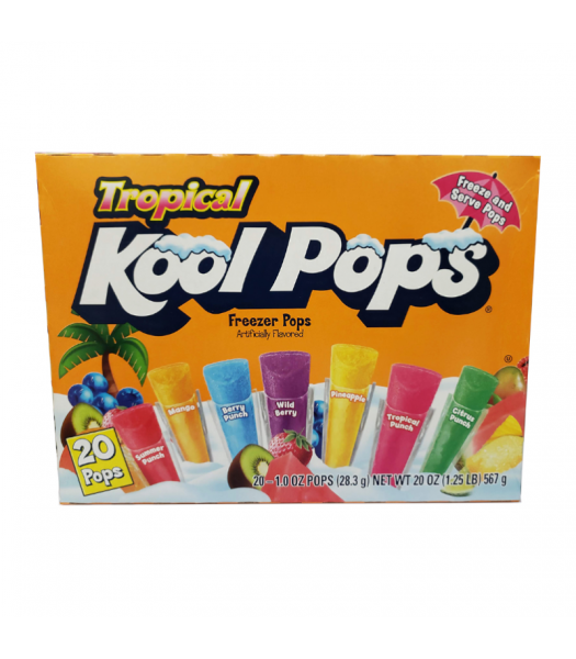 Kool Pops Tropical Freezer Bars 1oz (28.3g) 20-Pack Food and Groceries