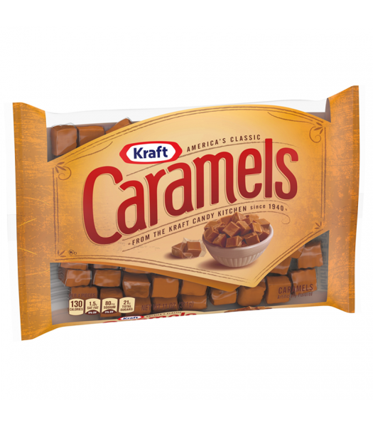 Kraft Caramels Individually Wrapped - 11oz (311g) Sweets and Candy Kraft