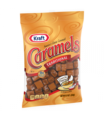Kraft Caramels Individually Wrapped - 9.5oz (269g) Sweets and Candy Kraft