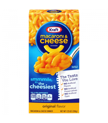 Kraft Macaroni Cheese Original 7.25oz (206g) Food and Groceries Kraft