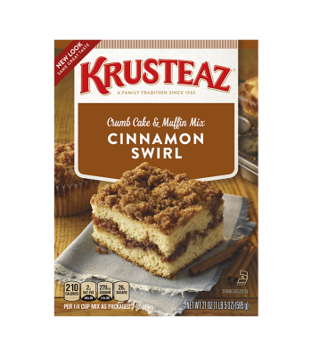 Krusteaz Cinnamon Swirl Crumb Cake 21oz (595g) Food and Groceries Krusteaz