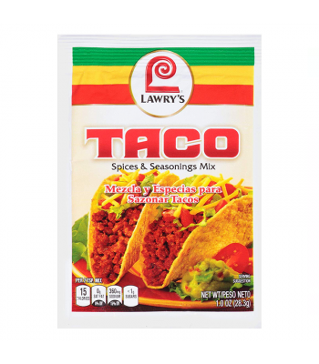 Lawry's Taco Spices & Seasonings Mix - 1oz (28.3g) Food and Groceries Lawry's