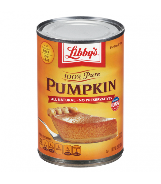 Libby's 100% Pure Pumpkin 15oz (425g) Tinned Groceries