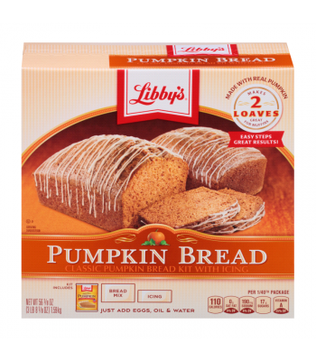 Libby's Classic Pumpkin Bread Kit with Icing - 56.1 Oz (1.59kg) Food and Groceries Libby's