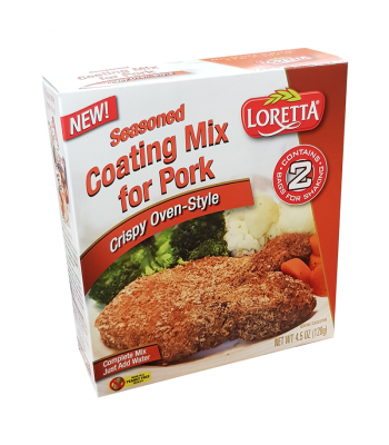 Loretta Crispy Oven-Style Seasoned Coating Mix for Pork - 4.5oz (128g) Food and Groceries