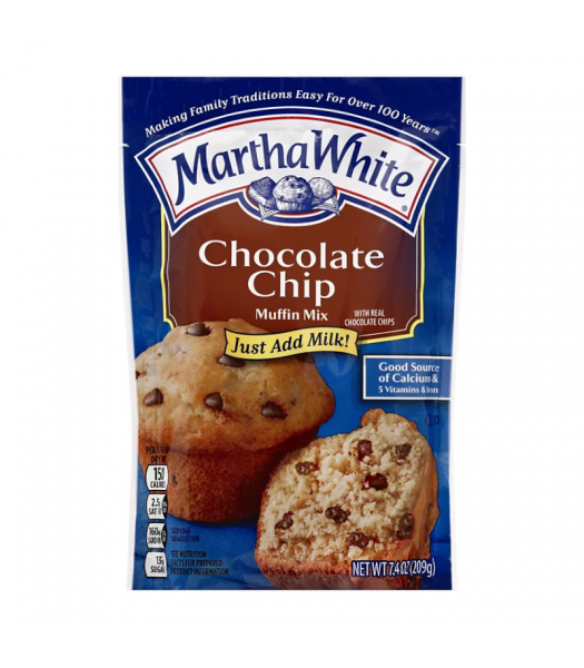 Martha White Chocolate Chip Muffin Mix - 7.4oz (209g) Food and Groceries