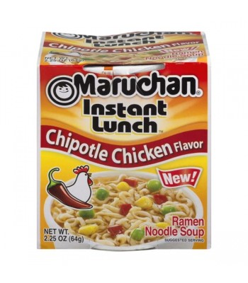 Maruchan Instant Lunch Chipotle Chicken Flavour Ramen Noodles 2.25oz (64g) Cup Food and Groceries Maruchan