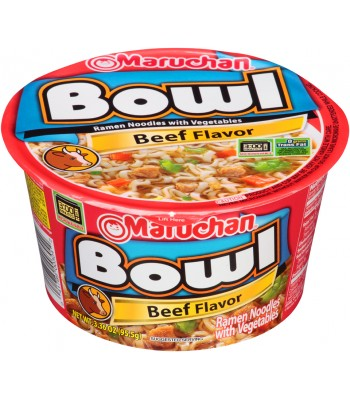 Maruchan Bowl - Beef 3.3oz (94g) Food and Groceries Maruchan