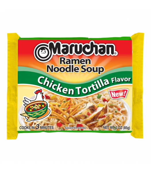 Maruchan - Chicken Tortilla Flavor Ramen Noodles - 3oz (85g) Food and Groceries Maruchan