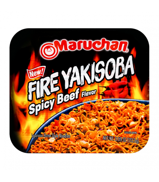 Maruchan Yakisoba Fire Spicy Beef - 3.99oz (113g) Food and Groceries Maruchan