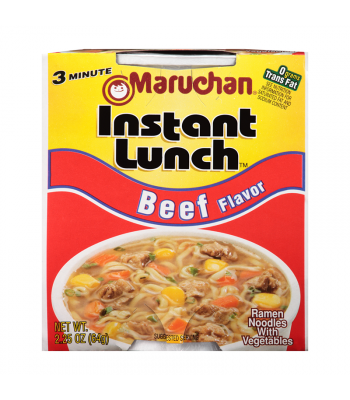 Clearance Special - Maruchan Instant Lunch Beef Flavour Ramen Noodles 2.75oz (64g) Cup **DAMAGED** Clearance Zone