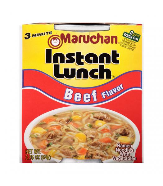 Maruchan - Beef Flavor Instant Lunch Ramen Noodles - 2.25oz (64g) Pasta & Noodles Maruchan