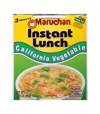 Maruchan Instant Lunch California Vegetable Flavour Ramen Noodles 2.75oz (64g) Cup Pasta & Noodles Maruchan