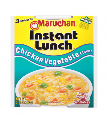 Maruchan Instant Lunch Chicken Vegetable Flavour Ramen Noodles 2.75oz (64g) Cup Pasta & Noodles Maruchan