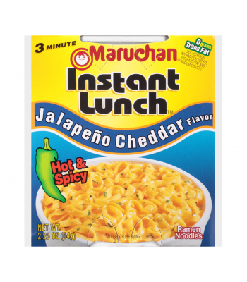 Maruchan Instant Lunch Jalapeno Cheddar Flavour Ramen Noodles 2.75oz (64g) Cup Food and Groceries