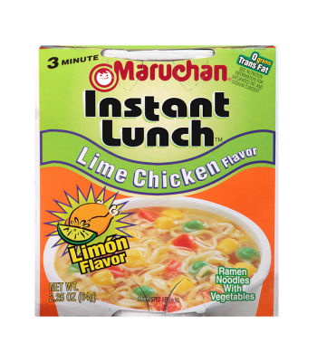 Maruchan Instant Lunch Lime Chicken Flavour Ramen Noodles 2.25oz (64g) Cup Food and Groceries Maruchan
