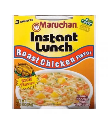 Maruchan - Roast Chicken Flavour Instant Lunch Ramen Noodles - 2.25oz (64g) Pasta & Noodles Maruchan
