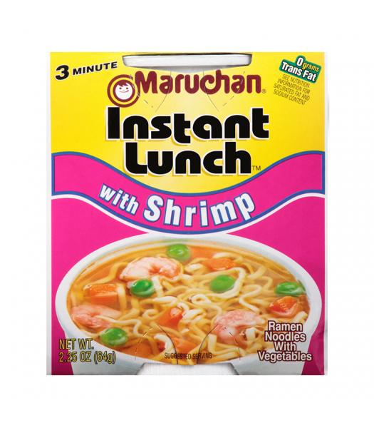 Maruchan - Shrimp Flavor Instant Lunch Ramen Noodles - 2.25oz (64g) Pasta & Noodles Maruchan