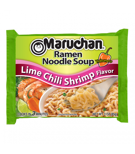 Maruchan - Lime Chili Shrimp Flavor Ramen Noodles - 3oz (85g) Food and Groceries Maruchan