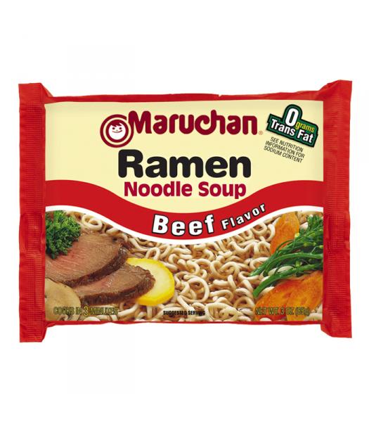 Maruchan - Beef Flavor Ramen Noodles - 3oz (85g) Pasta & Noodles Maruchan