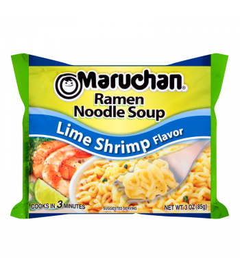 Clearance Special - Maruchan - Lime Shrimp Flavor Ramen Noodles - 3oz (85g) ** Best Before: 20th Jan 2019 ** Clearance Zone