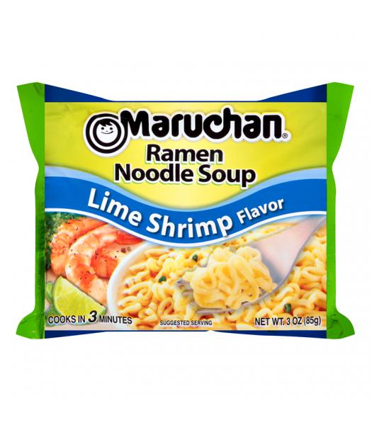 Maruchan - Lime Shrimp Flavor Ramen Noodles - 3oz (85g) Pasta & Noodles Maruchan