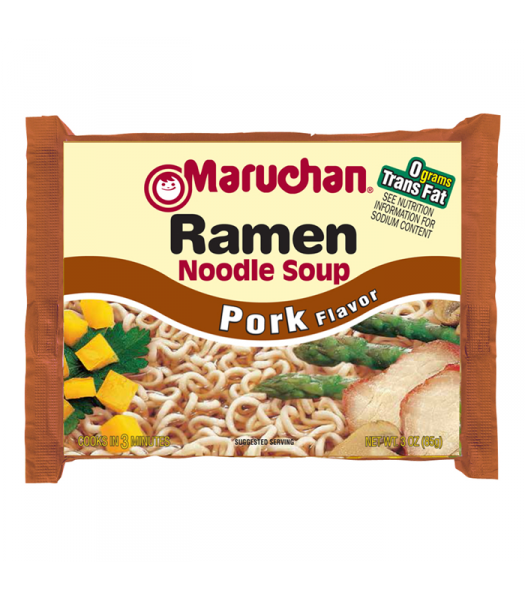 Maruchan - Pork Flavor Ramen Noodles - 3oz (85g) Food and Groceries Maruchan