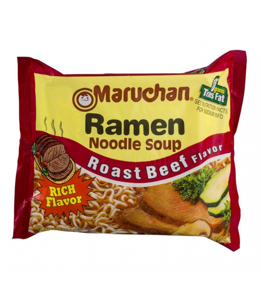 Maruchan - Roast Beef Flavor Ramen Noodles - 3oz (85g) Pasta & Noodles Maruchan