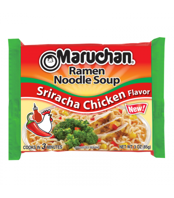 Maruchan - Sriracha Chicken Flavor Ramen Noodles - 3oz (85g) Food and Groceries Maruchan